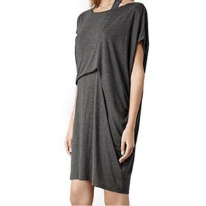 All Saints Pari asymmetrical tee shirt Dress